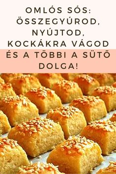 Összegyúrod, nyújtod, kockákra vágod és a többi a sütő dolga! #sós #omlós Winter Food, Pretzel Bites, Cookie Recipes, Hamburger, French Toast, Sweets, Bread, Cookies, Breakfast