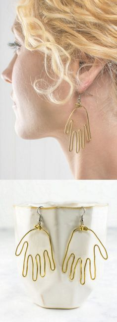 DIY Brass Wire Hand EarringsMake these DIY Wire Hand Earrings... | TrueBlueMeAndYou: DIYs for Creative People | Bloglovin'