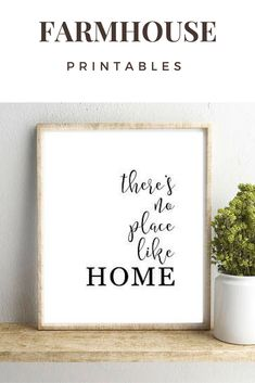 There's No Place Like Home Wall Art, Shabby Chic Art, Farmhouse Printable, Home Print, Dorm Print, Wizard of Oz print, Dorothy Quote Print #affiliate