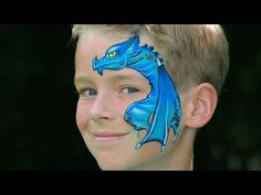Dragon face painting tutorial - Dragon makeup for Halloween - YouTube