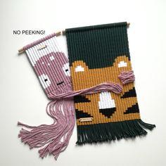 Weaving Projects, Weaving Art, Loom Weaving, Macrame Wall Hanger, Crochet Wall Hangings, Creative Textiles, Rainbow Crochet, Crochet Motif, Fiber Art