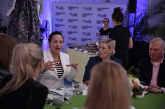 Fashion Bloggers from the Belk Southern Style Summit chat with Belk executives in the Belk Tent during Charleston Fashion Week 2015 #CHSFW #BelkScene