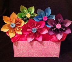 Kusudama paper flower bouquet/centerpiece. Can by TheCornerPaper