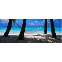 Trademark Fine Art Island Bliss Canvas Art by David Evans, Size: 16 x 47, Multicolor