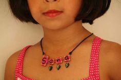 Terracotta Name Necklace by Bagoholics on Etsy, $25.00
