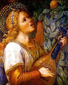 Melozzo da Forli, Angel With Lute