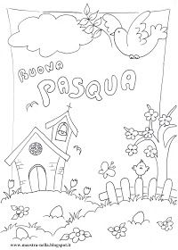 maestra Nella: Pasqua-Disegni da colorare Doodle Coloring, Coloring For Kids, Colouring Pages, Drawing For Kids, Art For Kids, Diy And Crafts, Crafts For Kids, City Drawing, Notebook Art