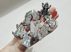 Hand full of Anatomical Pins based on my watercolor paintings