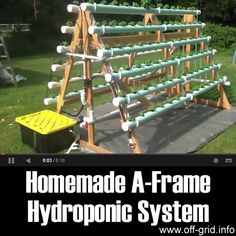 Please Share This Page: Homemade A-Frame Hydroponic SystemPhoto – http://www.youtube.com/watch?v=dqk_WCPSrXc This video shows a very slick hydroponics system that will allow you to grow more plants in a smaller space without the need for any soil! A set-up like this can give plants more light and help them to protect them from some pests and [...]