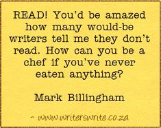 Quotable – Mark Billingham - How can you be a chef if you've never eaten anything?