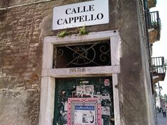 Calle Cappello...antiquated serving history
