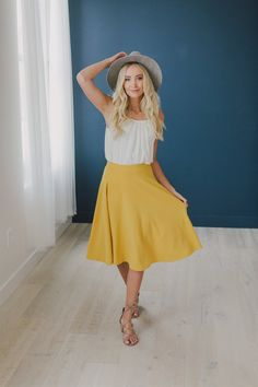 Lux A Line Skirt | styling a skirt