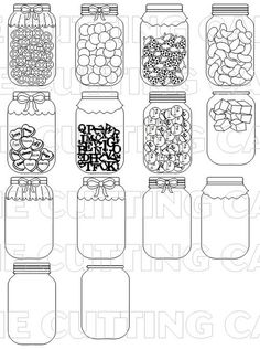 JARS by the Cutting Cafe for printing and cutting!