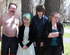 Oh awkwardfamilyphotos.com... Stop it.  Everyone copes in their own way. (submitted by Fiona)