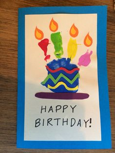 Toddler Handprint Happy Birthday Card Crafts Dad Craft
