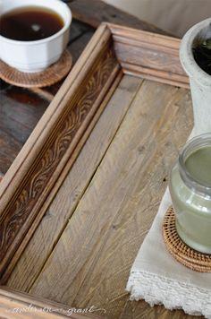 DIY Reclaimed Wood Tray | www.andersonandgrant.com