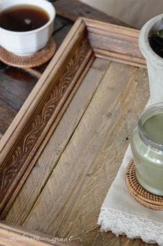 How To Create A Reclaimed Wood Tray From A Picture Frame
