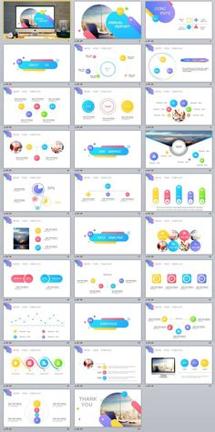 29+ Annual Report Multicolor PowerPoint Templates