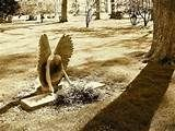 cemetery sculpture --- crying angel
