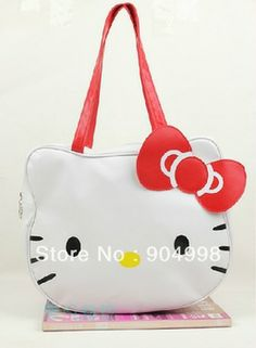 766006c4868a Fashion Hello kitty handbags Cute design Shoulder bag big size Free  Shipping Hello Kitty Handbags