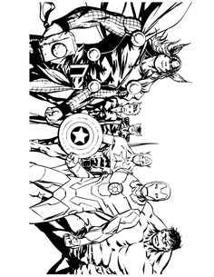 marvel avengers coloring pages llmdo pinterest marvel avengers coloring books and adult coloring - Avengers Coloring Book