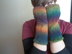 Fingerless gloves long knitted armwarmers by BlackRavenCreations, $17.00