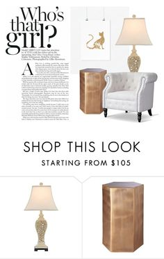"""""""Who's that girl"""" by shop-the-royal-we on Polyvore featuring interior, interiors, interior design, hogar, home decor, interior decorating, CB2, Baxton Studio, vintage y Elegant"""