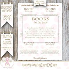 Bring a Book Instead of a Card Pink Polka Dots by charmcitycharm