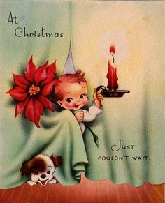 children vintage christmas card | christmas cards