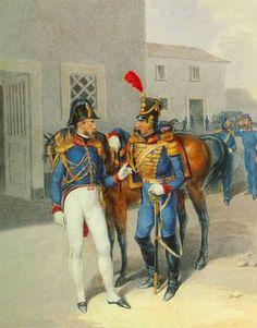 Ufficiali del treno dell'artiglieria della guardia reale