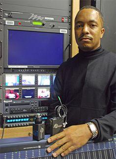 Dillard University's Mark Raymond inside the university's TV production studio