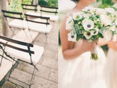 anemone bouquets - photo by Lisa Poggi http://ruffledblog.com/tuscany-destination-wedding