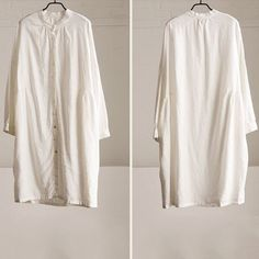 Women cotton linen loose shirt dress