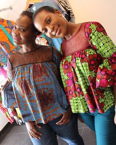 We can't get over these beauties in their bell sleeve tops. It's a Sale! African Print Dresses, African Fashion Dresses, African Attire, African Wear, African Prints, African Blouses, African Tops, African Women, African Inspired Fashion