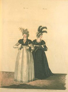 Gallery of fashion March 1797 - Mourning dresses