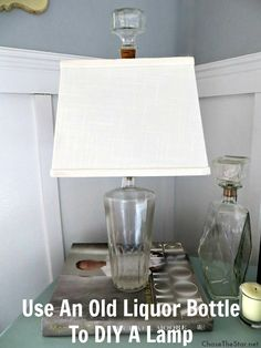Repurposed Liquor Bottle Into a Lamp. I have a few bottles that could look really nice like this