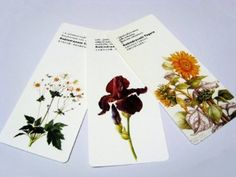 Flowers Card Bookmark