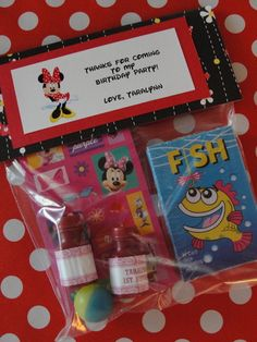 Mickey Mouse Minnie Mouse birthday party goodie bag