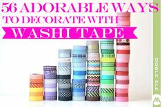 56 Adorable Ways To Decorate With Washi Tape | Nifymag.com