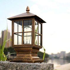 Pillar Lights, Garden Villa, Lantern Post, Gazebo, Lawn, Lanterns, Outdoor Structures, Community, Patio