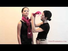 http://www.verypashmina.com/scarf-style/how-to-tie-a-scarf/    How To Tie A Scarf --     Scarves are not only a practical accessory, with a few simple styling techniques you can adapt your scarf into a wide range of fun and fashionable looks in only a matter of seconds.    In this video, Very Pashmina stylist Yanira Garza teaches some easy-to-fo...