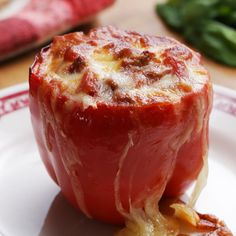 Lasagna-Stuffed Peppers Recipe by Tasty - Brunch Rezepte Beef Recipes, Cooking Recipes, Healthy Recipes, Cookbook Recipes, Gourmet Cooking, Cooking Tips, Recipies, Cooking Steak, Healthy Soup