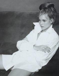 Kate. White shirt.