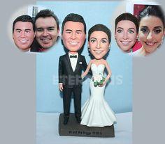 Custom wedding cake topper , Custom Handmade Bride and Groom Cake Topper, wedding cake topper figure