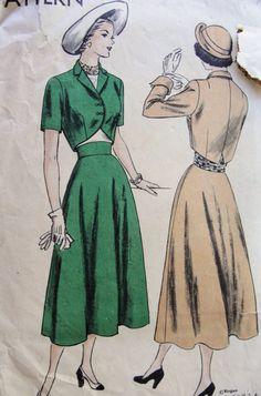 1940s bolero cape patterns | patterns 1940s suit cummerbund pattern lovely cutaway front bolero ...