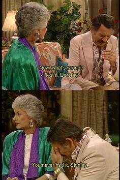 The Golden Girls: Stan & Dorothy.. still a better love story then twilight!!!