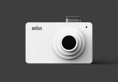 Minimal Design - Inspired by Rams' simplistic and illustrious designs, Seongjin Kim has idealized a concept camera.D (Digital Camera Hommage for Dieter Rams) the blueprints pave a minimalistic future for photography. Dieter Rams Design, Braun Dieter Rams, Braun Design, Camera Photos, Design Industrial, Modern Industrial, Slider, Branding, Vintage Design
