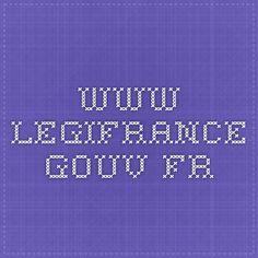 www.legifrance.gouv.fr