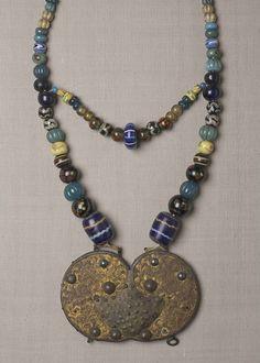 Necklace of glass beads. Hokkaido Ainu. 19th century. detail.