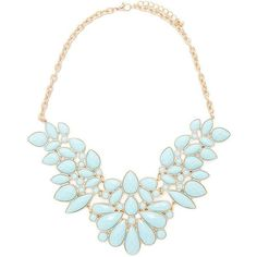 Forever 21 Faux Gem Statement Necklace ($20) ❤ liked on Polyvore featuring jewelry, necklaces, gemstone necklaces, tear drop necklace, forever 21, bib statement necklace i teardrop necklace